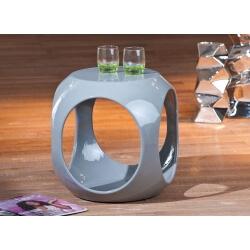 Table d'appoint carrée design grise Nano