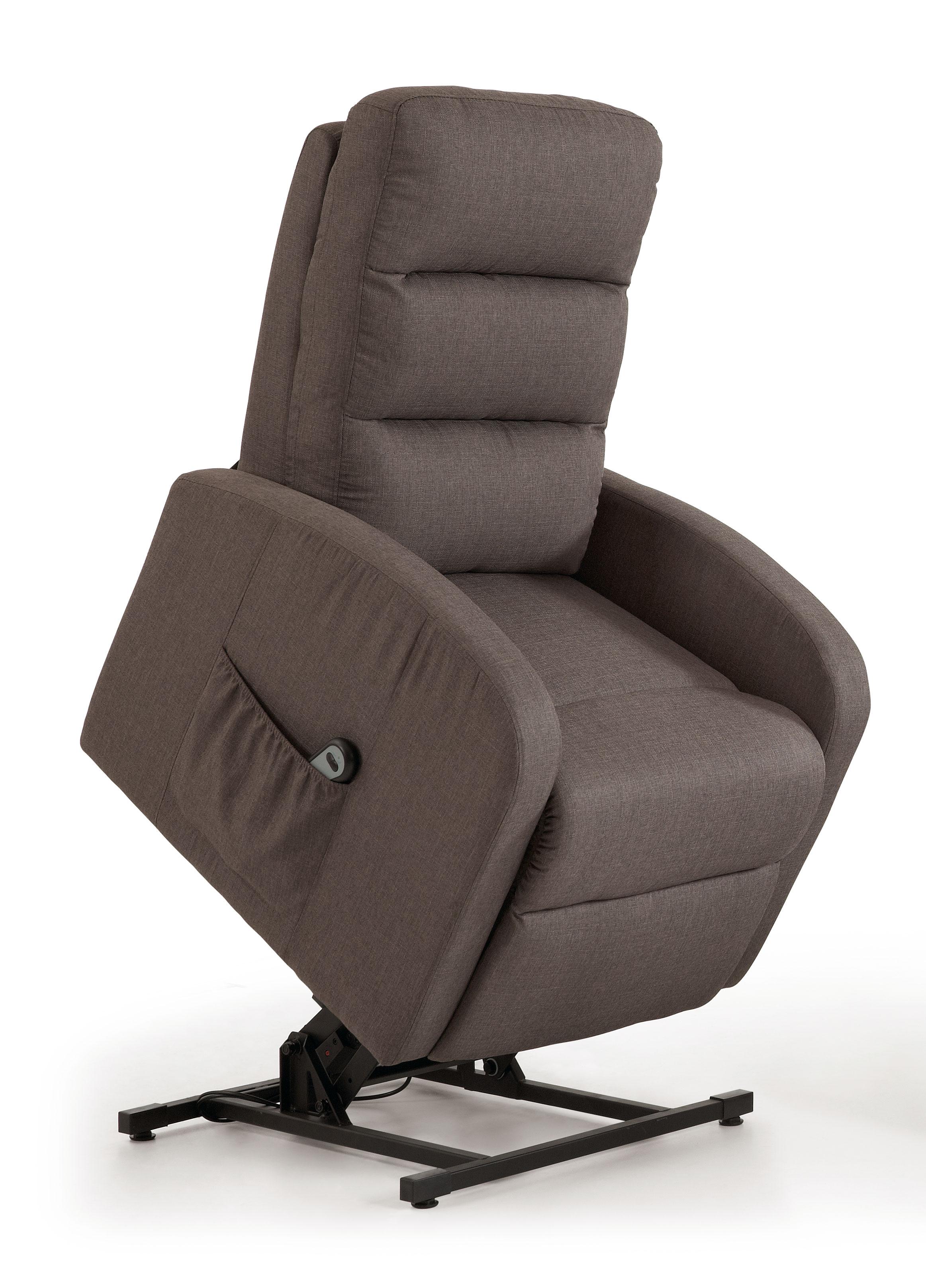 Fauteuil de relaxation électrique avec releveur en tissu gris Meribel