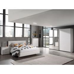 Chambre adulte contemporaine coloris chêne blanc Marvel II