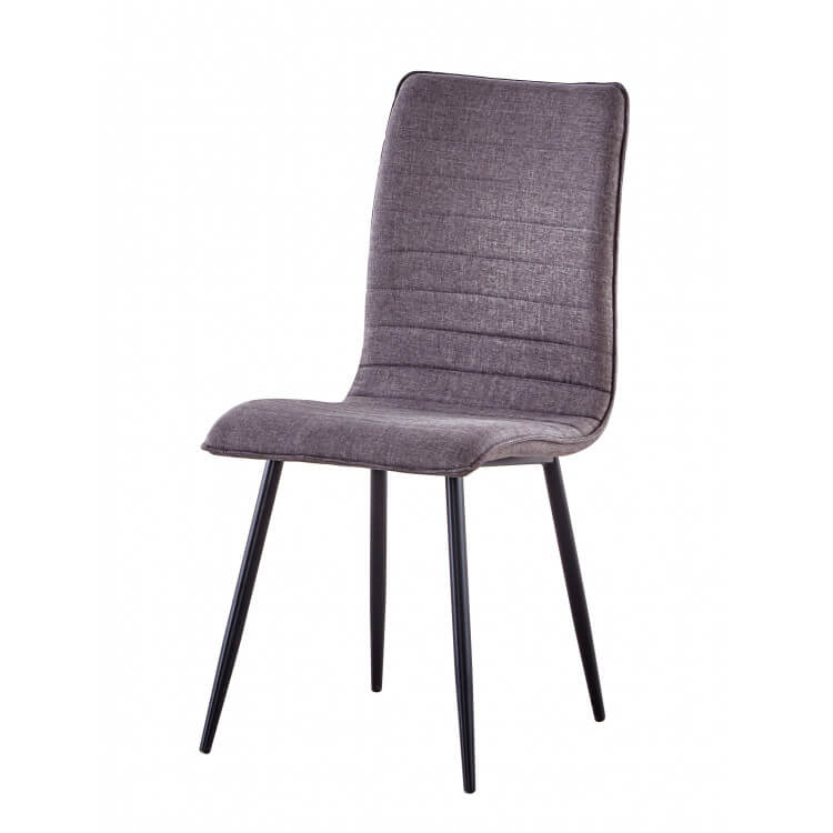 Chaise de salle à manger design en tissu gris (lot de 6) Avila