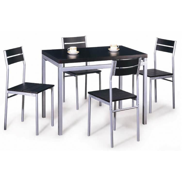 Ensemble table de cuisine & 4 chaises REGGAE