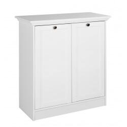 Meuble de rangement contemporain 2 portes coloris blanc Natural