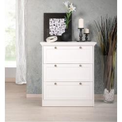 Meuble de rangement contemporain 3 tiroirs coloris blanc Natural