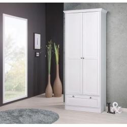 Armoire contemporaine 2 portes/1 tiroir coloris blanc Natural
