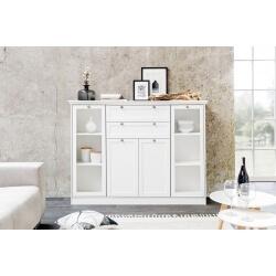 Meuble de rangement contemporain coloris blanc Natural
