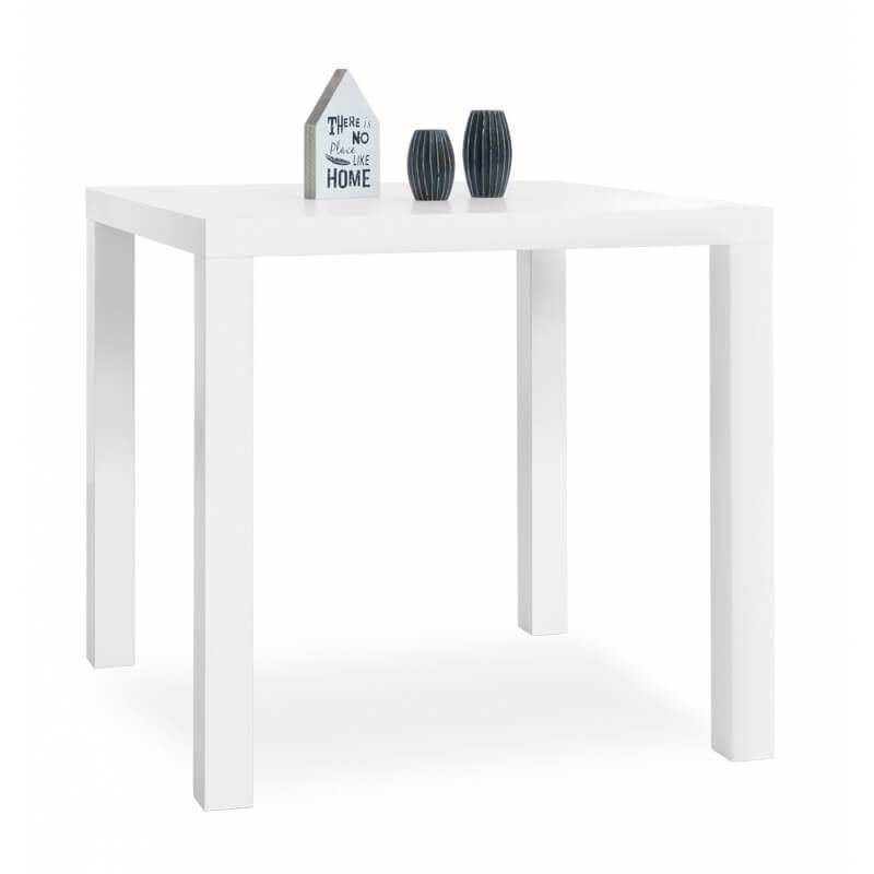 table de salle manger carr e design blanche clarence. Black Bedroom Furniture Sets. Home Design Ideas