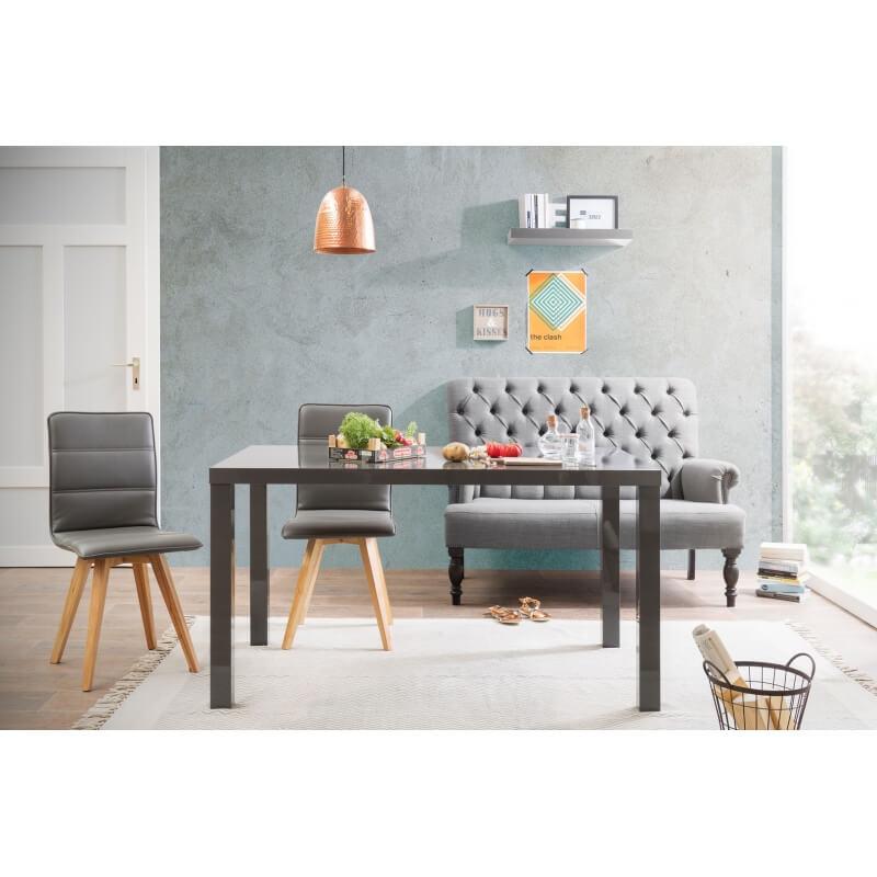 table de salle manger rectangulaire design 140 cm. Black Bedroom Furniture Sets. Home Design Ideas