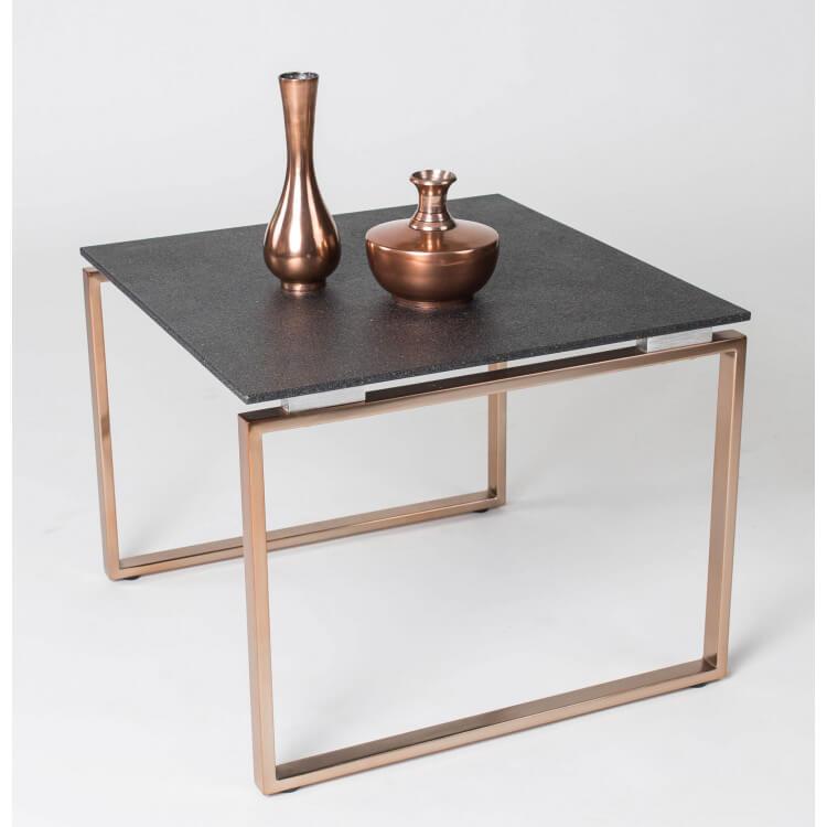 Eurydice Métal Carrée Rose Table Design Ii Goldverre Basse Pierre Coloris b9WD2EHYeI