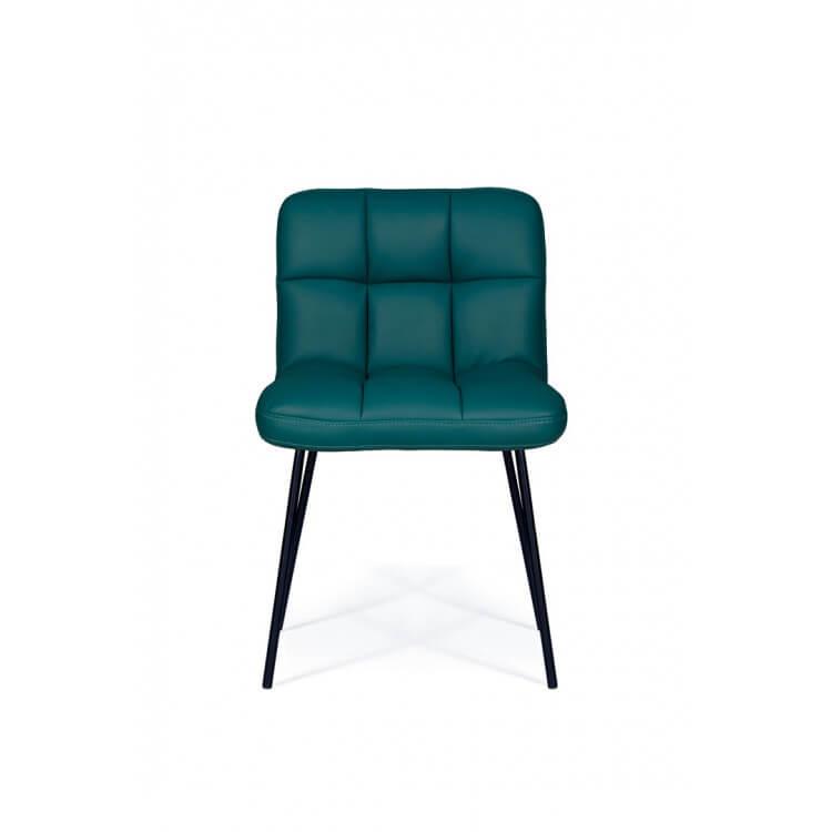 Chaise De Salle à Manger Design En Métal Et Pu Coloris Bleu Pétrol