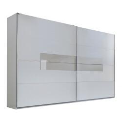 Armoire adulte design portes coulissantes 200 cm coloris blanc Raphaela