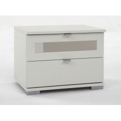 Chevet adulte design coloris blanc Raphaela