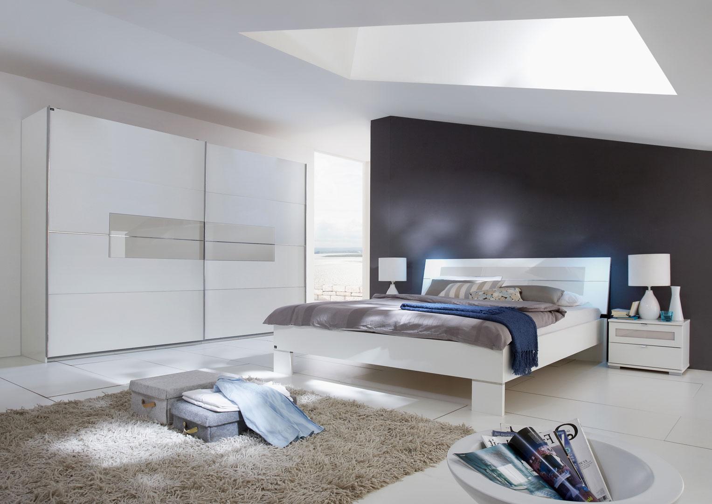 Chambre adulte design coloris blanc Raphaela