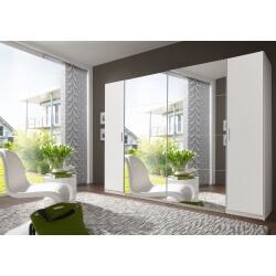 Armoire adulte design 4 portes coloris blanc Filippa