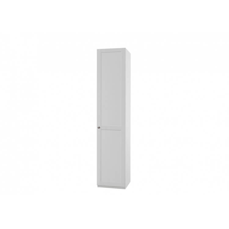Armoire contemporaine 1 porte coloris blanc alpin Amerand