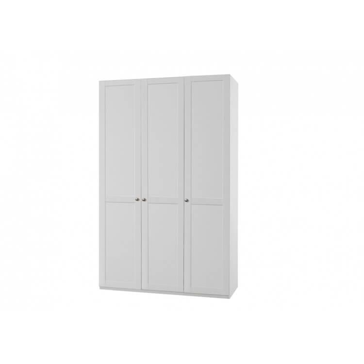 Armoire contemporaine 3 portes coloris blanc alpin Amerand