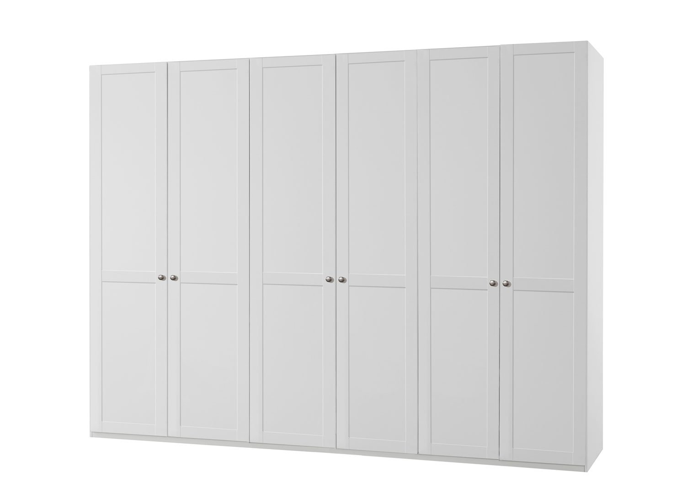 Armoire contemporaine 6 portes coloris blanc alpin Amerand