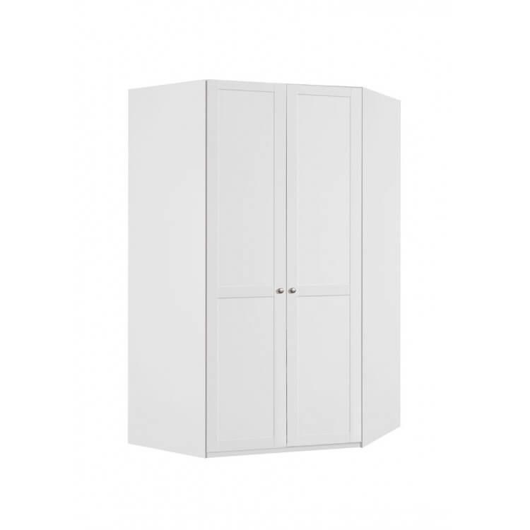 Armoire d'angle contemporaine coloris blanc alpin Amerand