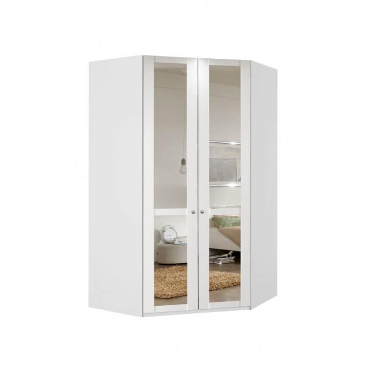 Armoire Dangle Contemporaine Avec Miroir Coloris Blanc Alpin