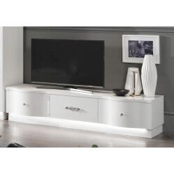 Meuble TV design 180 cm laqué blanc Horus