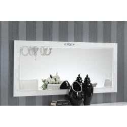 Miroir de salle à manger design rectangulaire laqué blanc Horus
