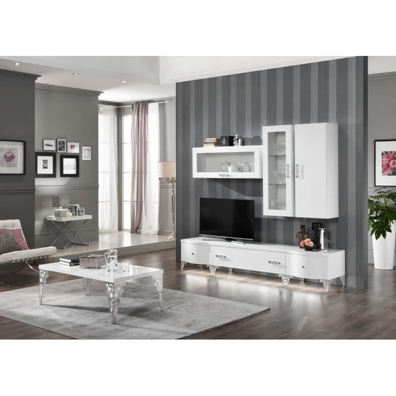 meuble de rangement suspendu design laqu blanc alceste. Black Bedroom Furniture Sets. Home Design Ideas
