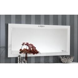 Miroir de salle à manger design rectangulaire laqué blanc Alceste