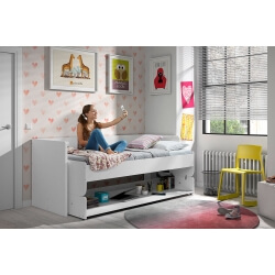 Lit enfant transformable contemporain coloris blanc Junior