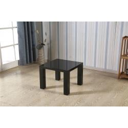 Table basse carrée design laquée noire Naomie