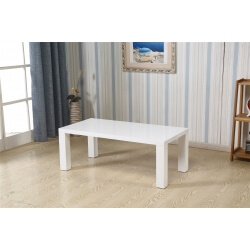 Table basse rectangulaire design laquée blanche Naomie
