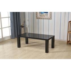 Table basse rectangulaire design laquée noire Naomie