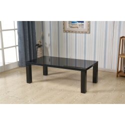 Table basse rectangulaire design laquée noire Naomie II