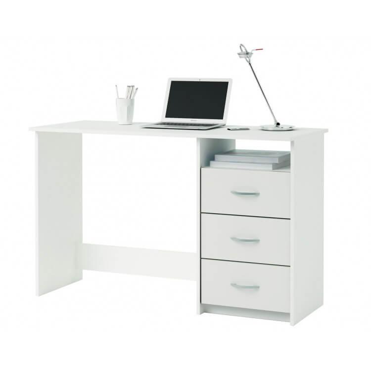 Bureau contemporain coloris blanc Sofiane
