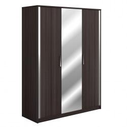 Armoire contemporaine 3 portes coloris chêne vulcano Azalée
