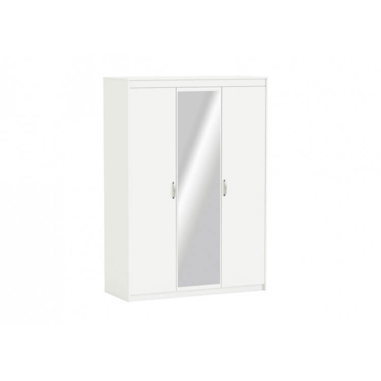Armoire adulte contemporaine 3 portes coloris blanc Gary