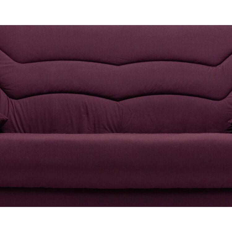 Housse clic-clac & 2 housses de coussins coloris prune Vista