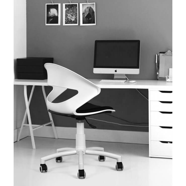 Pvc De Blanctissu Bureau Chaise Noir Dorothee Design PiOXTwZuk