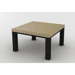 Table basse carrée contemporaine coloris chêne beaufort Malaisia