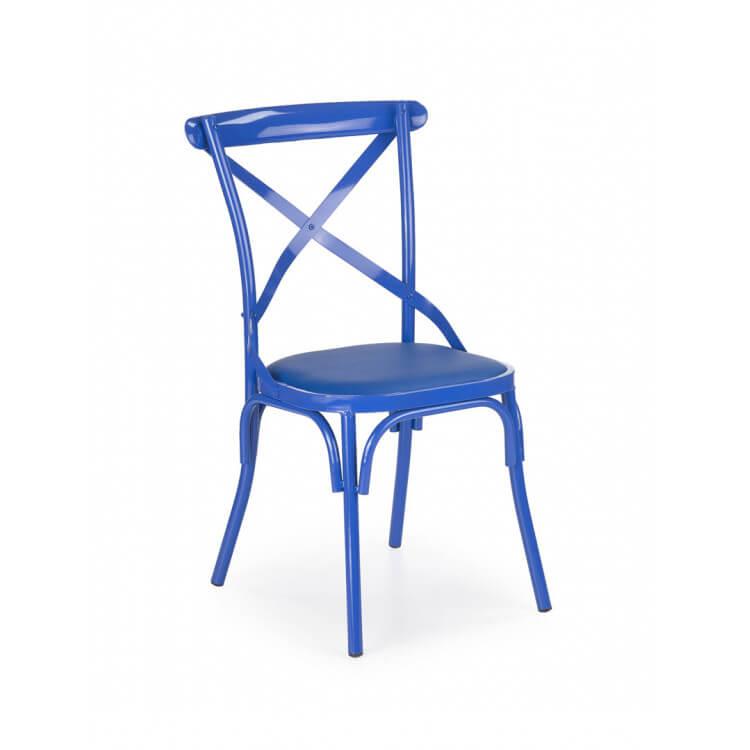 Chaise De Cuisine Design.Chaise De Cuisine Design En Metal Bleu Lot De 2 Color