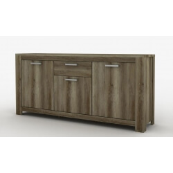 Buffet/bahut contemporain 220 cm coloris chêne canyon Nirvana