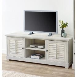 Meuble TV contemporain coloris chêne blanchi Daytona