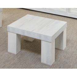 Table basse contemporaine carrée chêne blanchi Daytona
