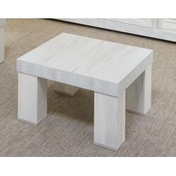 Table basse contemporaine carrée coloris chêne blanchi Daytona