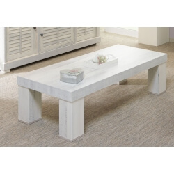 Table basse contemporaine rectangulaire coloris chêne blanchi Daytona