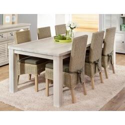 Table de salle à manger contemporaine coloris chêne blanchi Daytona