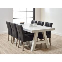 Table de salle à manger contemporaine chêne blanchi Daytona I