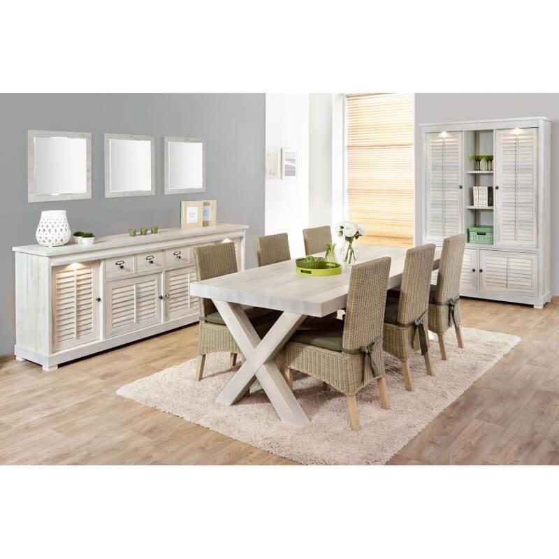 salle manger contemporaine coloris ch ne blanchi daytona ii matelpro. Black Bedroom Furniture Sets. Home Design Ideas