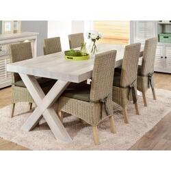 Table de salle à manger contemporaine coloris chêne blanchi Daytona III