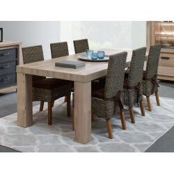 Table de salle à manger contemporaine coloris chêne Tyson