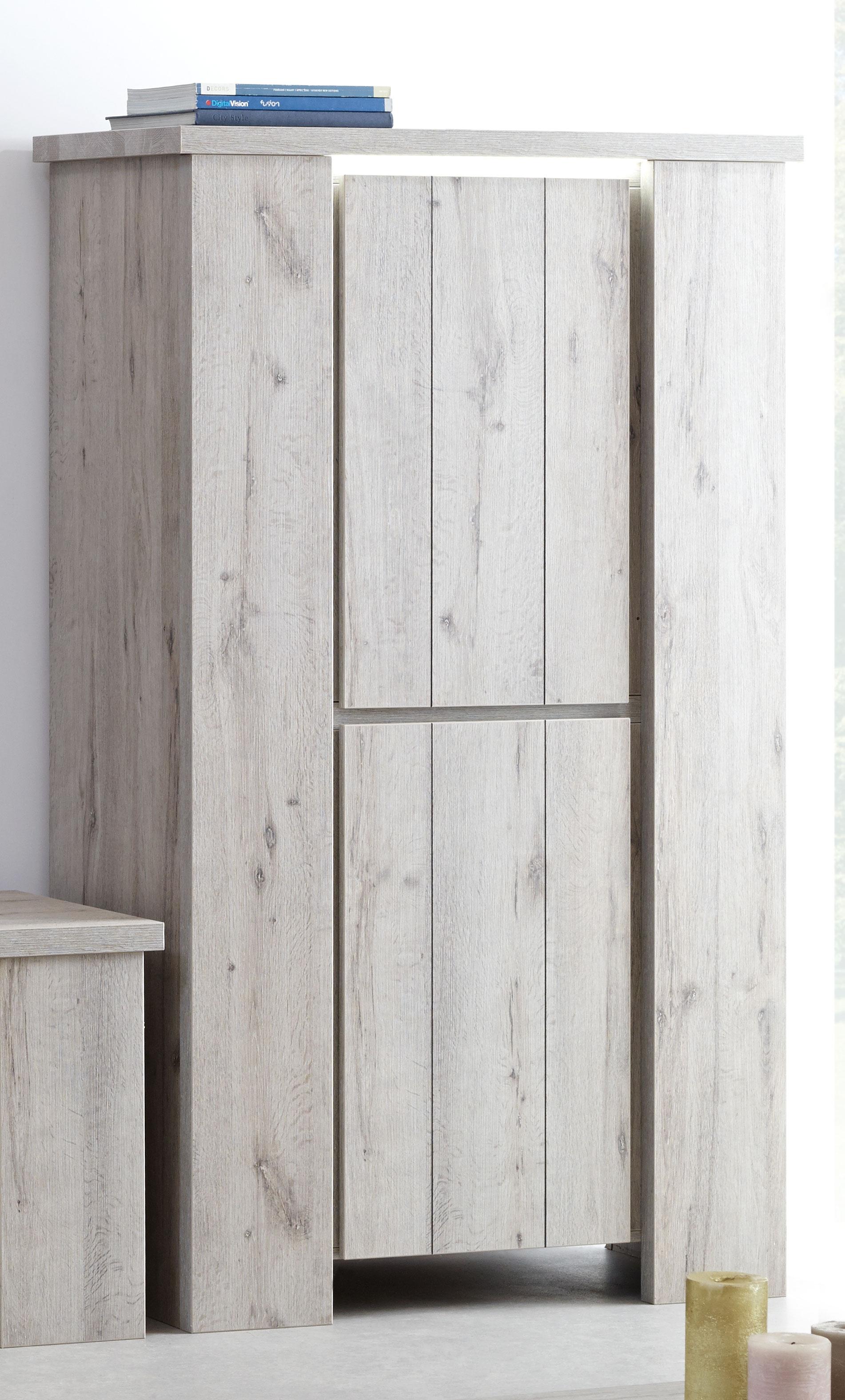 Colonne de rangement contemporaine coloris chêne gris Jonathan