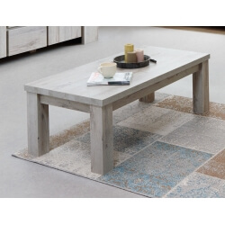 Table basse rectangulaire contemporaine coloris chêne gris Jonathan